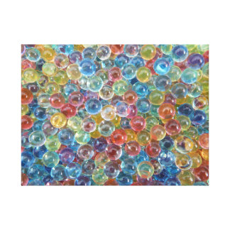 colored glass beads wrapped canvas