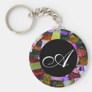 Colored Glitter Spots Key Ring