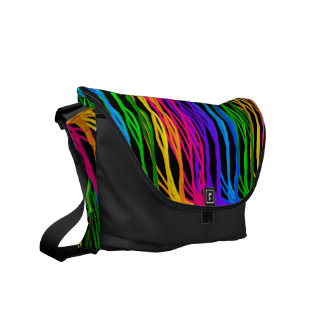 Colored Hair Strands Commuter Bags