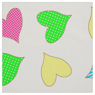Colored Hearts Fabric