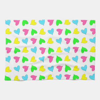 Colored Hearts Kitchen Towels