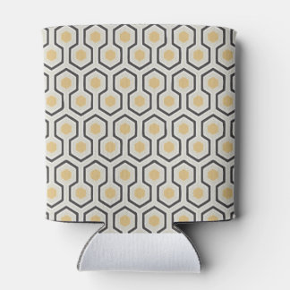 Colored Honeycomb Grid Pattern Can Cooler