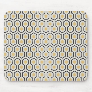Colored Honeycomb Grid Pattern Mouse Pad