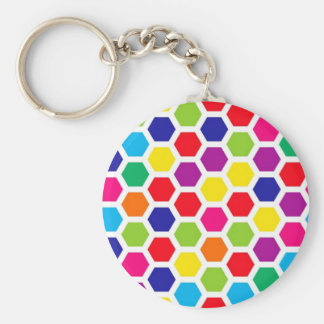 Colored Honeycomb Key Chains