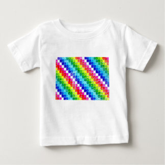 Colored In Graph Paper Squares Baby T-Shirt