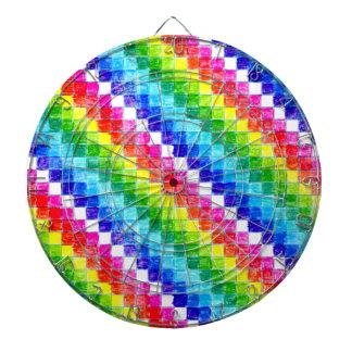 Colored In Graph Paper Squares Dartboard