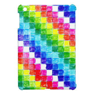 Colored In Graph Paper Squares iPad Mini Cover