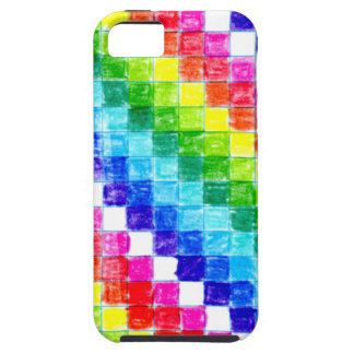 Colored In Graph Paper Squares iPhone 5 Cover