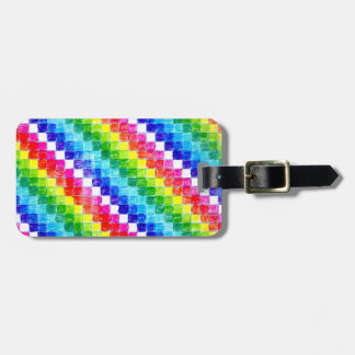 Colored In Graph Paper Squares Luggage Tag