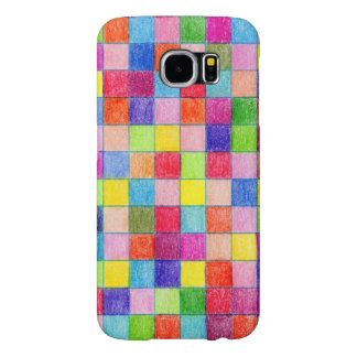Colored In Graph Paper Squares Samsung Galaxy S6 Cases