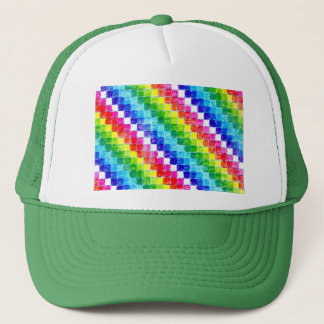 Colored In Graph Paper Squares Trucker Hat