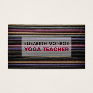 Colored Incense, Yoga Teacher Business Card