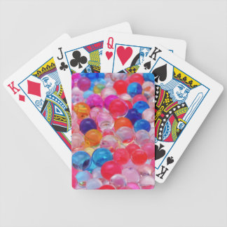 colored jelly balls texture bicycle playing cards