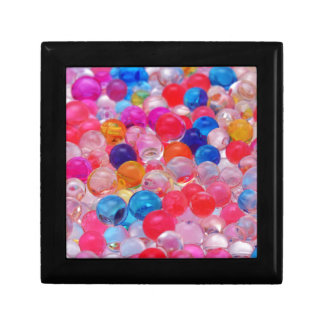 colored jelly balls texture gift box