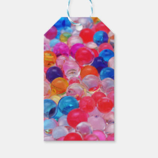 colored jelly balls texture gift tags