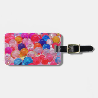 colored jelly balls texture luggage tag