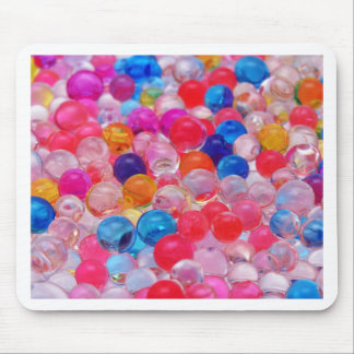 colored jelly balls texture mouse pad
