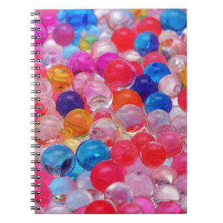 colored jelly balls texture notebooks