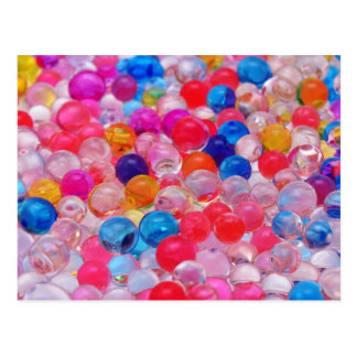 colored jelly balls texture postcard