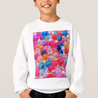 colored jelly balls texture sweatshirt