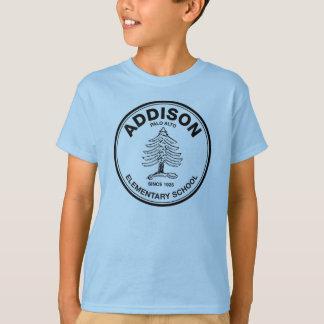 Colored kids tee, black Addison logo T-Shirt