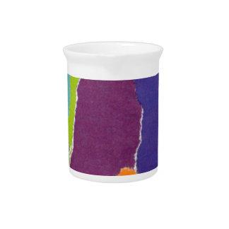 Colored landscape inspiration pitcher