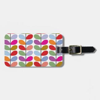 Colored Leaf Art Travel Bag Tag