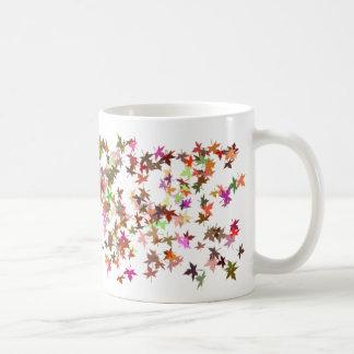 Colored Leaf Basic White Mug