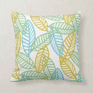 colored leaf pillow