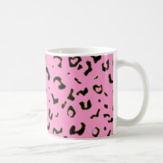 Colored leopard print coffee mug