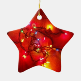 'Colored Lights'  Star Ornament