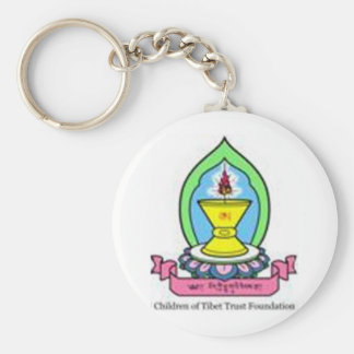 Colored Logo CTTF Basic Round Button Key Ring