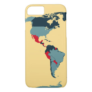 Colored Map of North & South America - iPhone 7 iPhone 7 Case