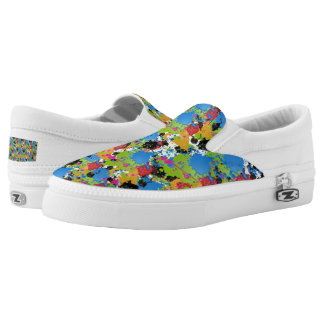 Colored Paint Splashes Slip-On Shoes