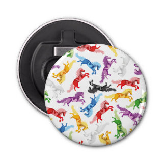 Colored Pattern jumping Horses Bottle Opener