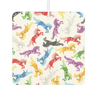 Colored Pattern jumping Horses Car Air Freshener