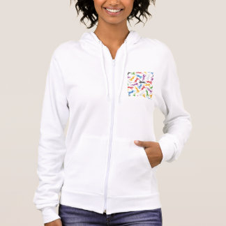 Colored Pattern jumping Horses Hoodie