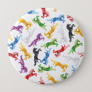 Colored Pattern Unicorn 10 Cm Round Badge