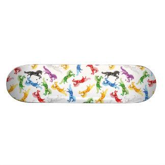 Colored Pattern Unicorn 20.6 Cm Skateboard Deck