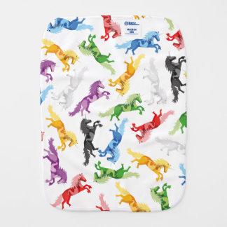 Colored Pattern Unicorn Burp Cloth