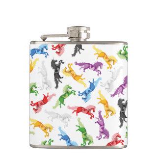 Colored Pattern Unicorn Hip Flask