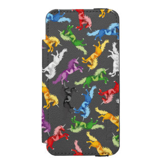 Colored Pattern Unicorn Incipio Watson™ iPhone 5 Wallet Case