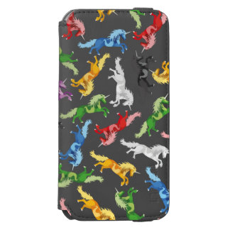 Colored Pattern Unicorn Incipio Watson™ iPhone 6 Wallet Case