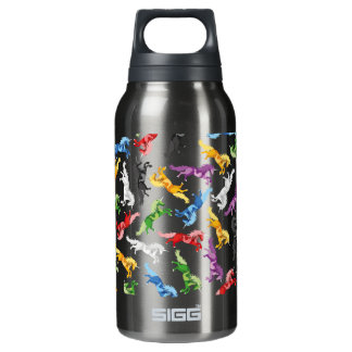 Colored Pattern Unicorn Insulated Water Bottle