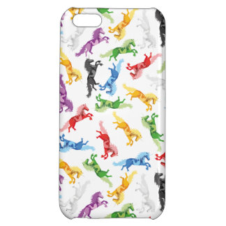Colored Pattern Unicorn iPhone 5C Cases