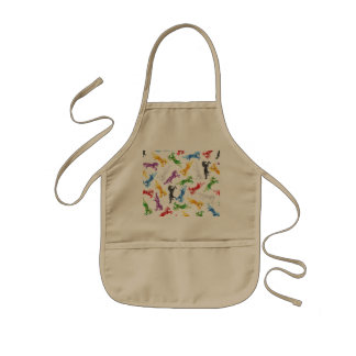 Colored Pattern Unicorn Kids Apron