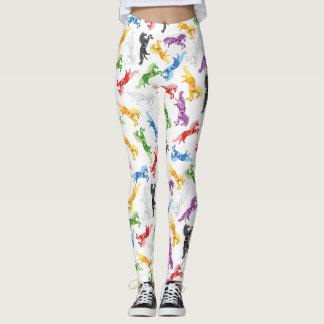 Colored Pattern Unicorn Leggings