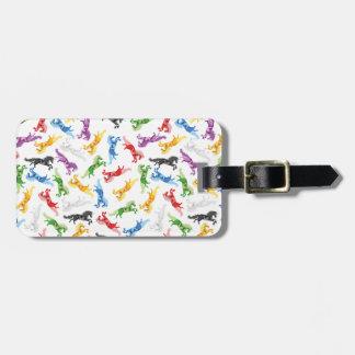 Colored Pattern Unicorn Luggage Tag