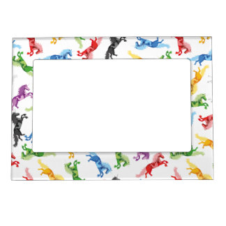 Colored Pattern Unicorn Magnetic Frame