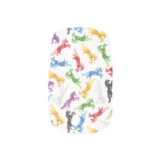 Colored Pattern Unicorn Minx Nail Art